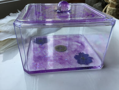 Purple Flower Xtra Large Trinket Box