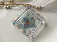 Load image into Gallery viewer, Holo moon Aura Quartz Ashtray/trinket tray