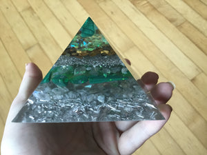 Small Malachite Pyramid