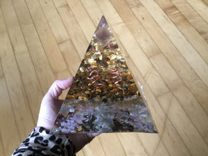 Large Gold Tiger Eye Pyramid