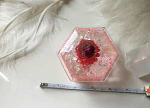 "Red 4"" trinket box"