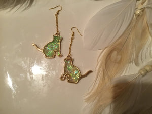 Glow Kitty Earrings
