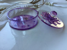 Load image into Gallery viewer, Purple Sparkle Amethyst Trinket Box