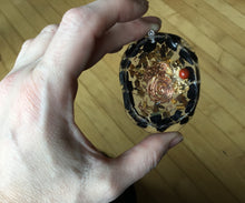 Load image into Gallery viewer, Tiger Eye Tourmaline Gold Red Jasper Orgonite Pendant Necklace