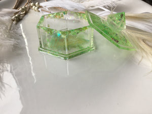 Green Peridot Trinket Box