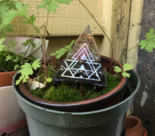 "Load image into Gallery viewer, 2"" Orgonite Pyramid Holo sticker"