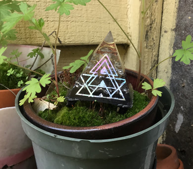 "2"" Orgonite Pyramid Holo sticker"