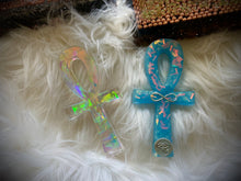 Load image into Gallery viewer, Fancy Blue Ankh