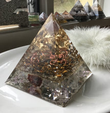 Load image into Gallery viewer, Large Gold Tiger Eye Pyramid