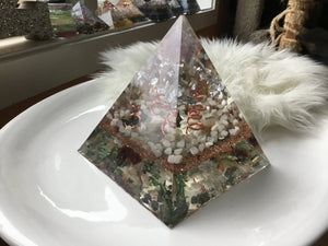 Large Silver Fluorite Pyramid