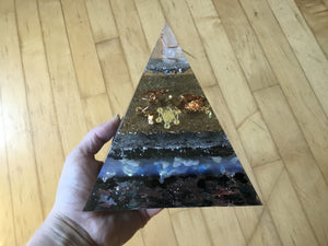 Blue Inference Orgonite Pyramid