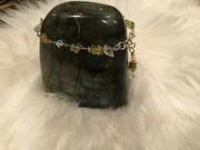 Load image into Gallery viewer, Peridot/Citrine/Swarovski Crystal bracelet