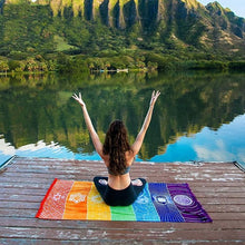 Load image into Gallery viewer, Yoga Mat Tapestry, Beach Towel, Summer Wall Hanging