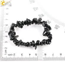 Load image into Gallery viewer, Natural Gem Stone Chip Black Tourmaline Bracelets