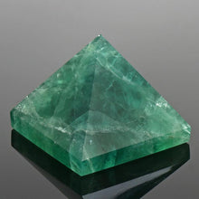 Load image into Gallery viewer, Natural Fluorite Pyramid Crystal Gemstone 45*45mm