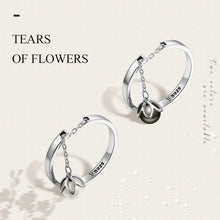 Load image into Gallery viewer, 925 Sterling Silver Tears Of Flowers Dangle