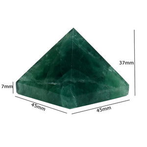 Natural Fluorite Pyramid Crystal Gemstone 45*45mm