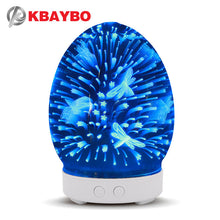 Load image into Gallery viewer, 3D Glass Air Humidifier Ultrasonic Aroma Essential Oil Diffuser with Night Light