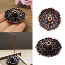 Load image into Gallery viewer, Mini 9 Holes Lotus Flower Incense Burner Holder Plate for Stick Cone Incense