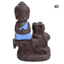 Load image into Gallery viewer, Little Monk Censer Small Buddha Backflow Incense Burner