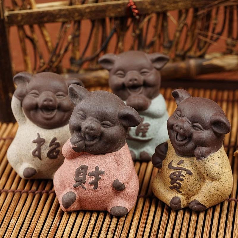 Mini Buddha Monk Figurine Ceramic Ornaments