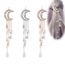 Load image into Gallery viewer, New  Charming Crystal Moon Hair Clip