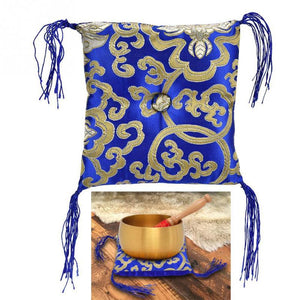 Tibetan Buddhism Singing Bowl Cushion Nepal Handmade Pillow Mat