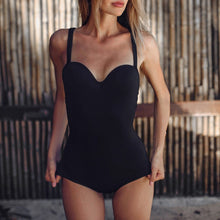Load image into Gallery viewer, The best white one piece push up swimsuit