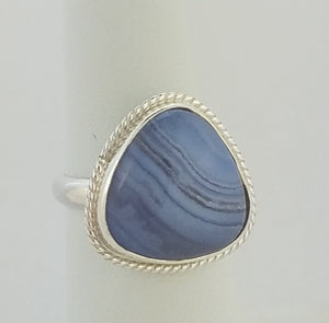 Blue Lacy Agate