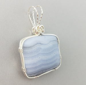 Blue Lacy Agate (20008)