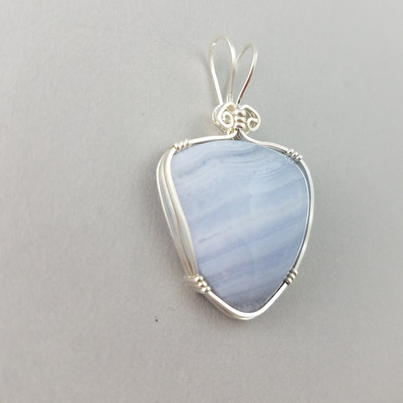 Blue Lacy Agate (20007)