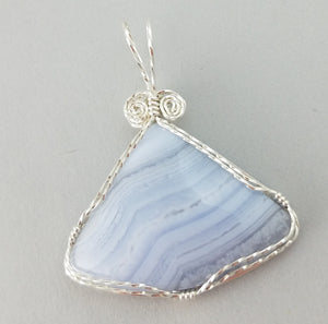 Blue Lacy Agate (20005)
