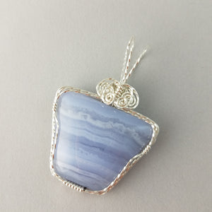 Blue Lacy Agate (20006)