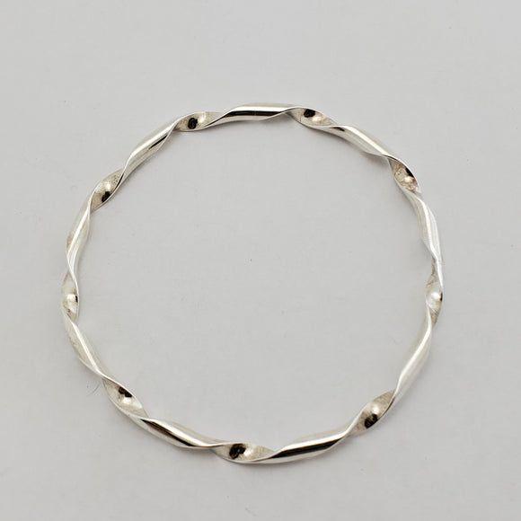 Twisted Sterling Bangle
