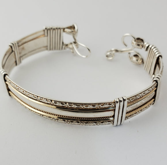 Sterling with 14k GF Pattern (30037)