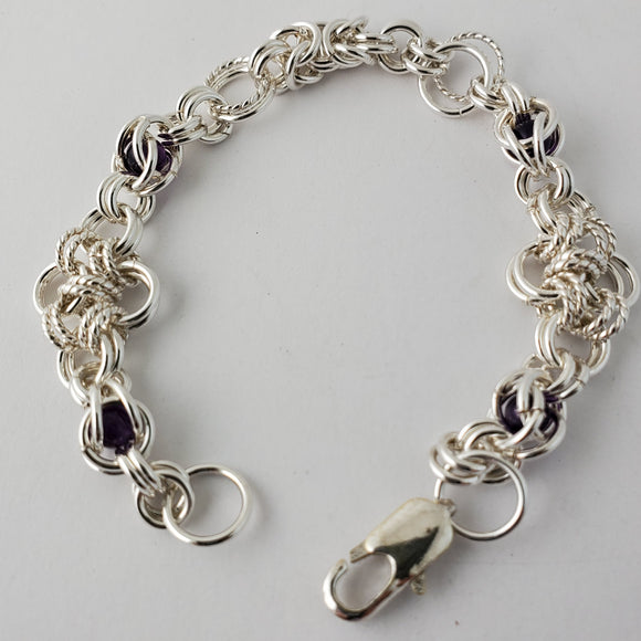 Mixed with Amethyst Bracelet  (50004)