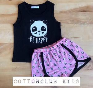 Older Girls Panda Summer Pyjamas