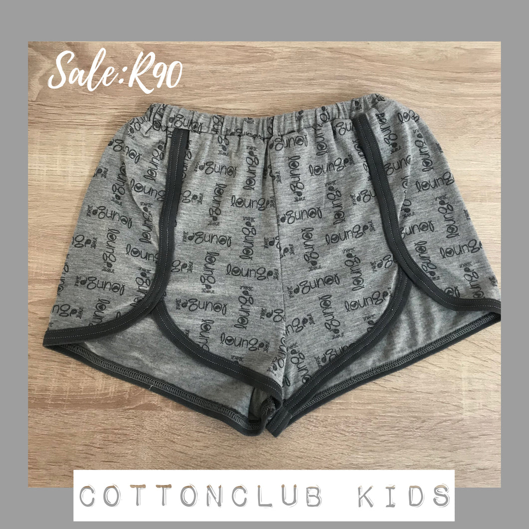 SALE ITEM - LOUNGE SHORTS - AGE 11-12