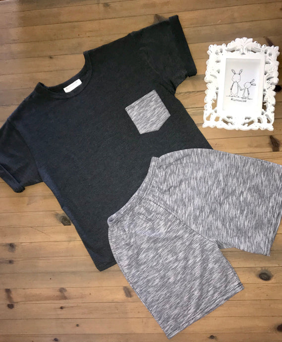 Boys Grey Summer Pyjamas