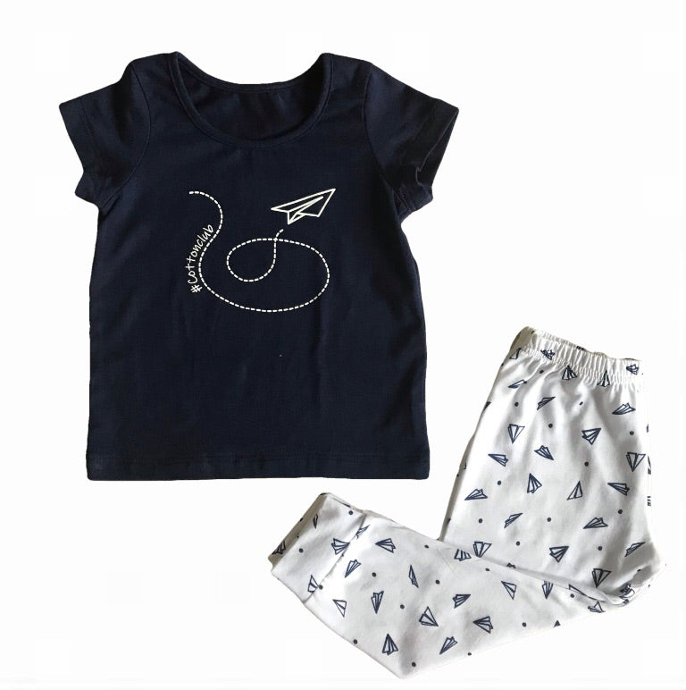 BOYS PLANE AUTUMN PYJAMA SET