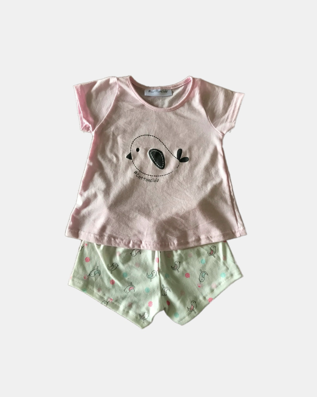 Bird Print Top Summer Pyjamas