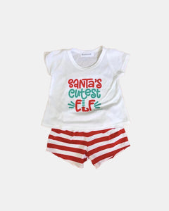 Girls Elf Christmas Pyjamas