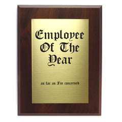Employee Of The Year Plaque