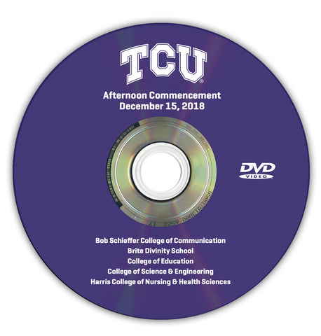 2018 Fall Graduation DVD -- Afternoon Ceremony