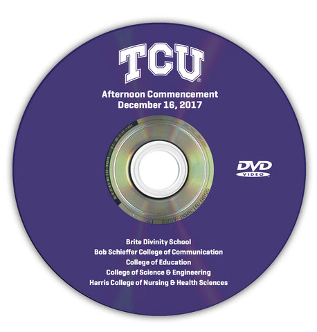 2017 Fall Graduation DVD -- Afternoon Ceremony