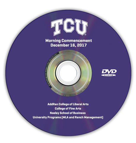 2017 Fall Graduation DVD -- Morning Ceremony