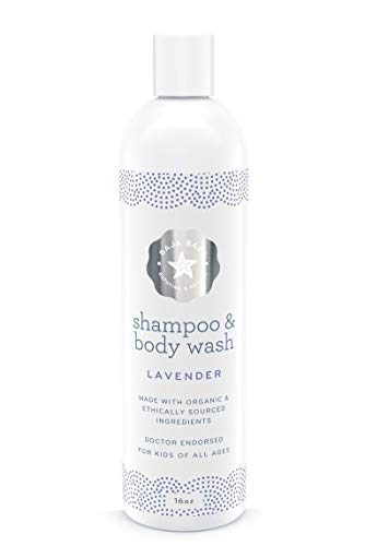 Organic Lavender Shampoo And Body Wash - Ewg Verified - Family Size - 16 Fluid Ounces - No Sulphates, Parabens And Phosphates - Best Baby Skincare 2017