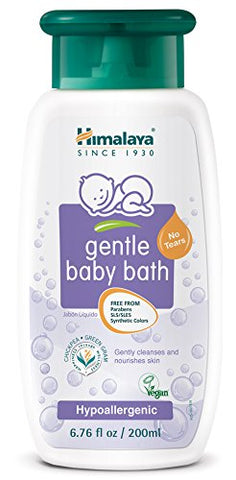 Himalaya Gentle Baby Bath, Baby Wash, Free From Parabens, Sls/Sles And Phthalates, Dermatologist Tested, 6.76Oz (200 Ml)