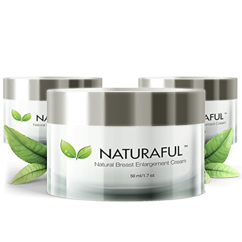 Naturaful - (3 Jar) Top Rated Breast Enhancement Cream - Natural Breast Enlargement, Firming And Lifting Cream | Trusted By Over 100,000 Users &Amp; Includes Handbook | $232 Value Bundle