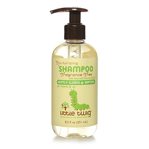Little Twig All Natural Extra Mild Organic Baby Moisturizing Shampoo Bottle For Sensitive Skin, Unscented, 8.5 Fluid Oz